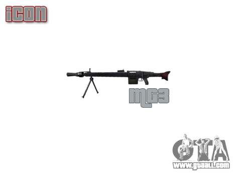 German MG3 machine gun icon3 for GTA 4 third screenshot