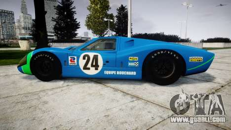 Ford GT40 Mark IV 1967 PJ Equipe Bouchard 24 for GTA 4 left view