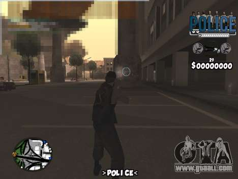 C-Hud Police for GTA San Andreas second screenshot
