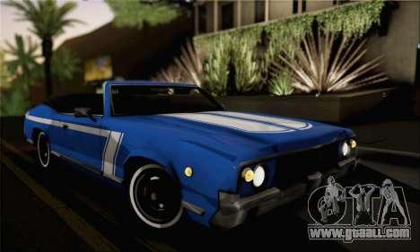 Sabre Convertible v1.0 for GTA San Andreas