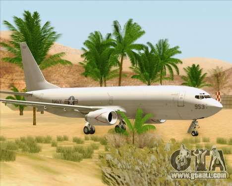 Boeing P-8 Poseidon US Navy for GTA San Andreas left view