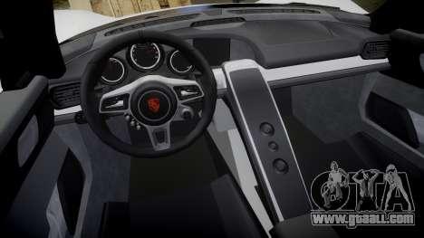 Porsche 918 Spyder 2014 for GTA 4 inner view