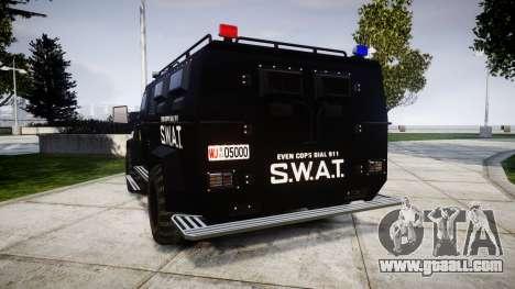 SWAT Van for GTA 4 back left view
