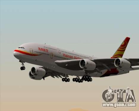 Airbus A380-800 Hainan Airlines for GTA San Andreas wheels