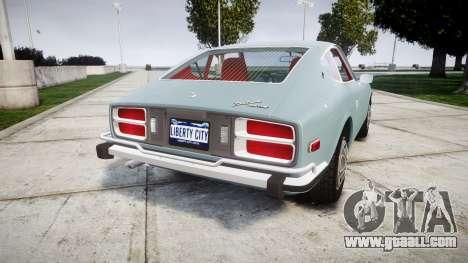 Datsun 260Z 1974 for GTA 4 back left view