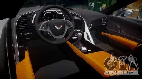 Chevrolet Corvette C7 Stingray 2014 v2.0 TirePi1 for GTA 4 inner view