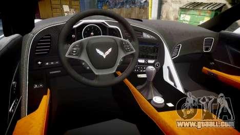 Chevrolet Corvette Z06 2015 TireBr3 for GTA 4 inner view