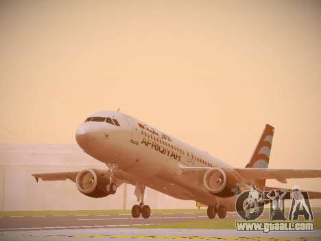Airbus A320-214 Afriqiyah Airways for GTA San Andreas left view