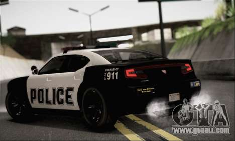 Bravado Buffalo S Police Edition (HQLM) for GTA San Andreas left view