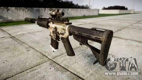 Автомат P416 ACOG silencer PJ1 target for GTA 4 second screenshot