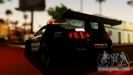 Ford Mustang GT-R Police for GTA San Andreas left view