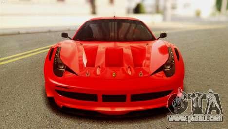 Ferrari 62 F458 2011 for GTA San Andreas back view