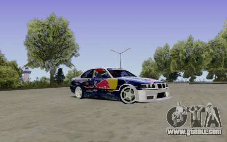 BMW E36 Red Bull for GTA San Andreas right view