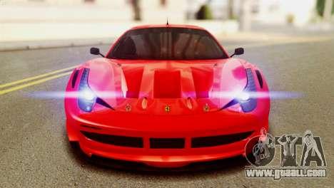 Ferrari 62 F458 2011 for GTA San Andreas inner view
