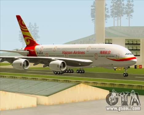 Airbus A380-800 Hainan Airlines for GTA San Andreas inner view