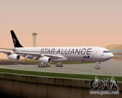 Airbus A340-300 All Nippon Airways (ANA) for GTA San Andreas upper view
