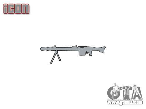 German MG3 machine gun icon1 for GTA 4 third screenshot