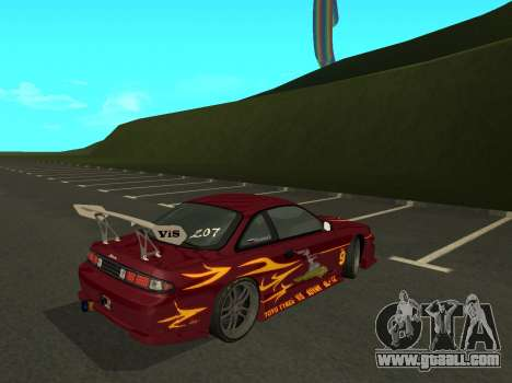 Nissan 200SX FnF1 (Letty car) for GTA San Andreas back left view