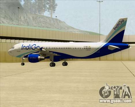 Airbus A320-200 IndiGo for GTA San Andreas inner view