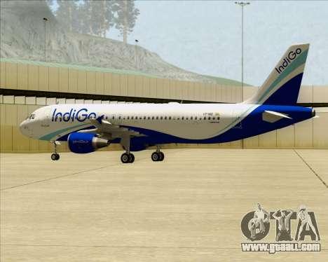 Airbus A320-200 IndiGo for GTA San Andreas inner view