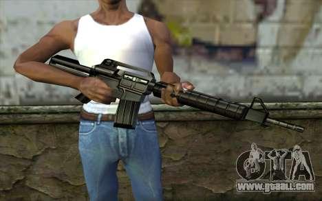 Retextured M4 for GTA San Andreas third screenshot