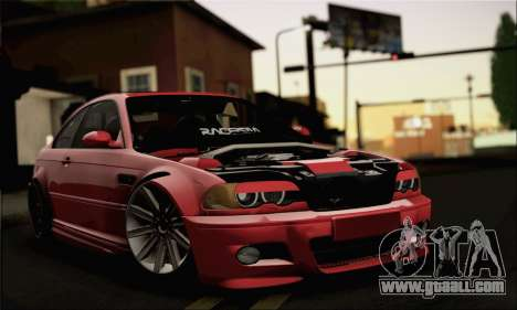 BMW M3 Coupe Tuned Version Burnout for GTA San Andreas