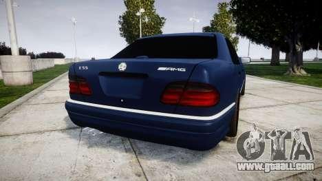 Mercedes-Benz W210 E55 2000 AMG Vossen VVS CVT for GTA 4 back left view