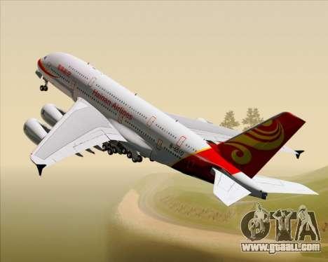 Airbus A380-800 Hainan Airlines for GTA San Andreas