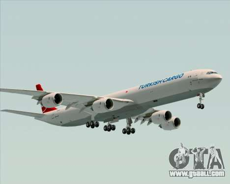Airbus A340-600 Turkish Cargo for GTA San Andreas back left view