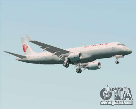 Embraer E-190 Air Canada for GTA San Andreas right view