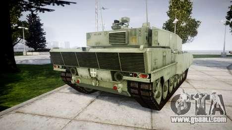 Leopard 2A7 EU Green for GTA 4 back left view