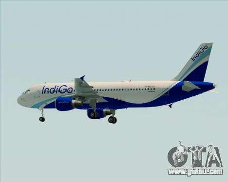 Airbus A320-200 IndiGo for GTA San Andreas back view