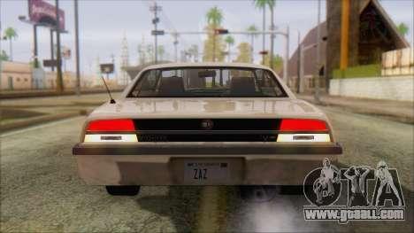 GTA 5 Vigero for GTA San Andreas back left view