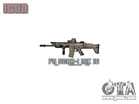 Machine FN SCAR-L Mk 16 target icon3 for GTA 4 forth screenshot