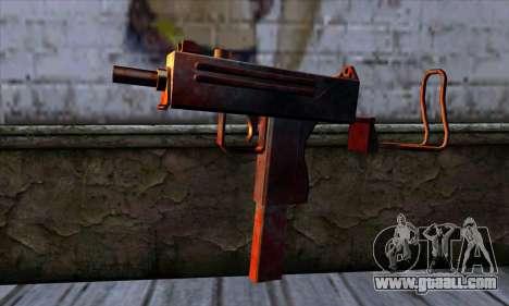 Micro Uzi v2 Rusty-bloody for GTA San Andreas