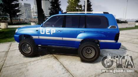 Toyota Land Cruiser 100 UEP blue [ELS] for GTA 4 left view