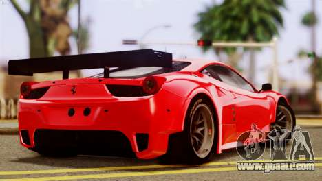 Ferrari 62 F458 2011 for GTA San Andreas left view