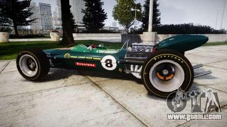 Lotus 49 1967 green for GTA 4 left view
