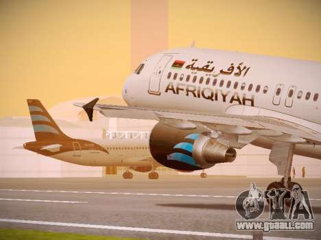 Airbus A320-214 Afriqiyah Airways for GTA San Andreas interior