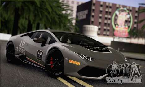 Lamborghini Huracan LP610-4 2015 for GTA San Andreas side view