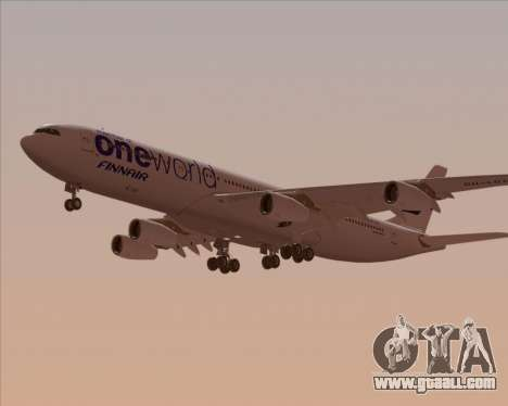 Airbus A340-300 Finnair (Oneworld Livery) for GTA San Andreas inner view