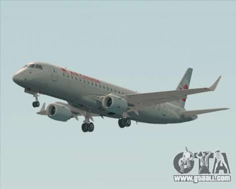 Embraer E-190 Air Canada for GTA San Andreas back left view