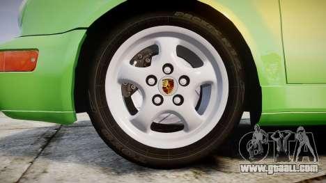 Porsche 911 (964) Cabrio for GTA 4 back view