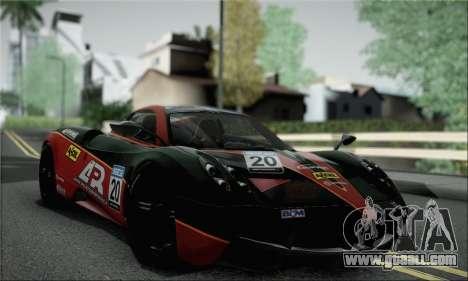 Pagani Huayra TT Ultimate Edition for GTA San Andreas back view
