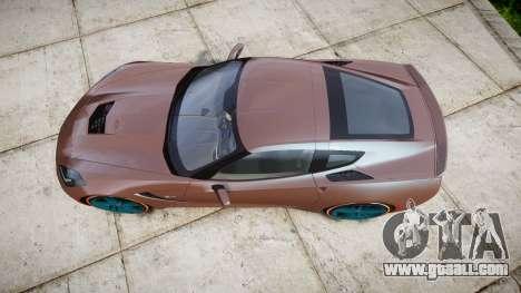 Chevrolet Corvette C7 Stingray 2014 v2.0 TireBr1 for GTA 4 right view