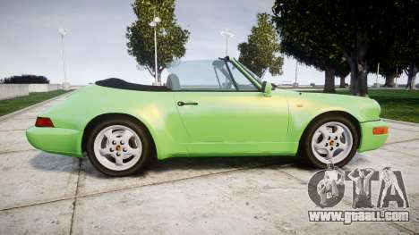 Porsche 911 (964) Cabrio for GTA 4 left view
