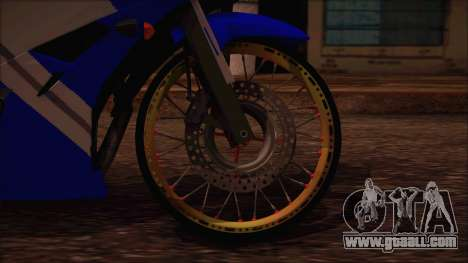 Yamaha R15 Modif for GTA San Andreas back left view