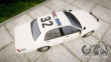 GTA V Vapid Police Cruiser Rotor [ELS] for GTA 4 right view