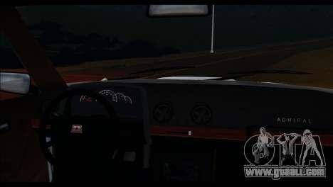 Admiral HD for GTA San Andreas back view