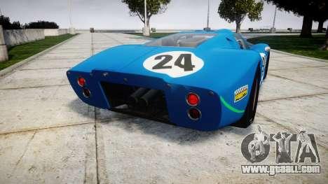 Ford GT40 Mark IV 1967 PJ Equipe Bouchard 24 for GTA 4 back left view